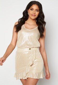 Chiara Forthi Abrienne glitter skirt Beige / Gold bubbleroom.fi