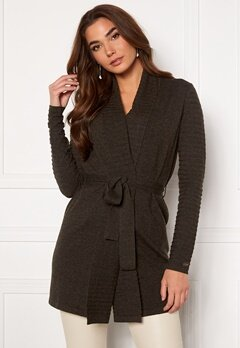Chiara Forthi Abruzzo knitted tie band cardigan Anthracite bubbleroom.fi