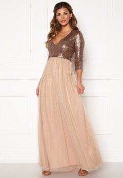 Chiara Forthi Admirante sparkling gown Rose gold Bubbleroom.fi