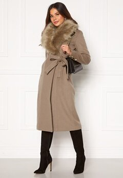 Chiara Forthi Amber Long Coat Nougat Bubbleroom.fi