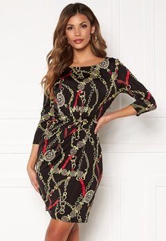 Chiara Forthi Amy 3/4 Sleeve Dress Black / Red Bubbleroom.fi