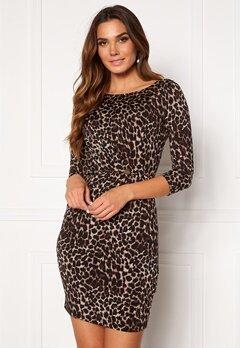 Chiara Forthi Amy 3/4 Sleeve Dress Leopard Bubbleroom.fi