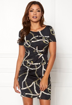 Chiara Forthi Amy Dress Black / Patterned Bubbleroom.fi