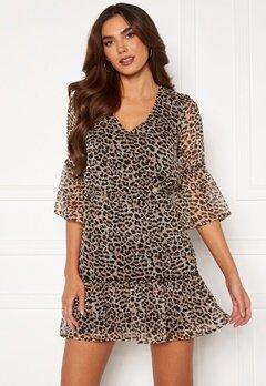 Chiara Forthi Annabelle flounce dress Leopard Bubbleroom.fi