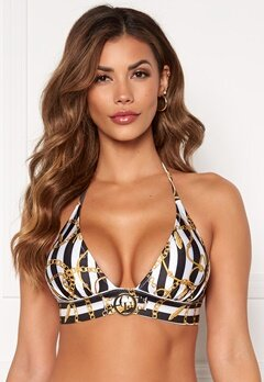 Chiara Forthi Arcola bikini bra Striped / Black / Gold Bubbleroom.fi