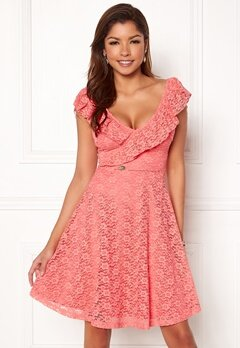 Chiara Forthi Ardiana Dress Coral pink Bubbleroom.fi