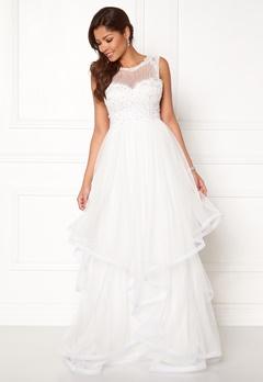 Chiara Forthi Aurora tulle gown White Bubbleroom.fi