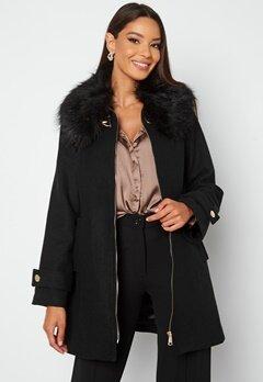 Chiara Forthi Bellance short coat Black Bubbleroom.fi
