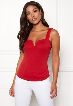 Chiara Forthi Bettina deep v-neck top Red Bubbleroom.fi