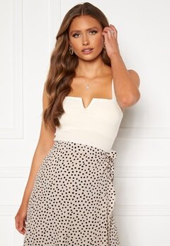 Chiara Forthi Bettina deep v-neck top White Bubbleroom.fi