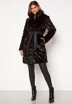 Chiara Forthi Bologna Faux Fur Coat Black Bubbleroom.fi