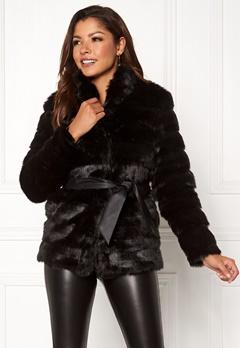 Chiara Forthi Bologna Faux Fur Jacket Black Bubbleroom.fi