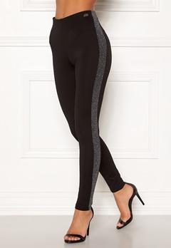 Chiara Forthi Brillante sparkling stripe pants Black / Silver Bubbleroom.fi