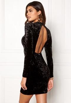 Chiara Forthi Brushed Velvet Dress Black Bubbleroom.fi