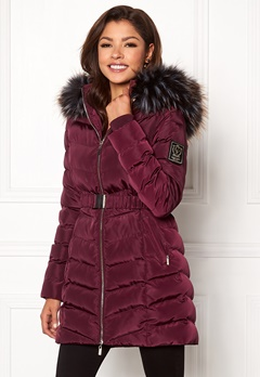 Chiara Forthi Campitello Padded Jacket Dark wine-red Bubbleroom.fi