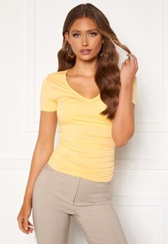 Chiara Forthi Carmelina ruched top Yellow Bubbleroom.fi