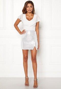 Chiara Forthi Celebrity skirt White / Silver Bubbleroom.fi