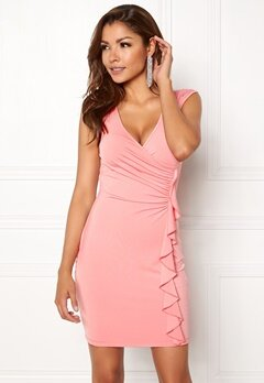 Chiara Forthi Celina ruffle dress Pink Bubbleroom.fi