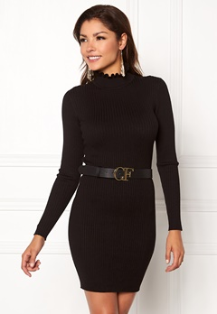 Chiara Forthi Cecile knitted dress Black Bubbleroom.fi