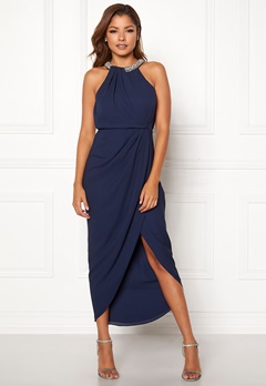 Chiara Forthi Cernobio long dress Navy Bubbleroom.fi