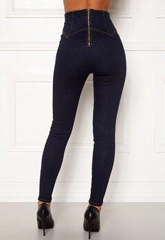 Chiara Forthi Chiara corset waist jeans Dark blue Bubbleroom.fi