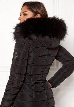 Chiara Forthi Chiara Faux Fur Collar Black Bubbleroom.fi