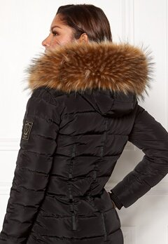 Chiara Forthi Chiara Faux Fur Collar Brown melange Bubbleroom.fi