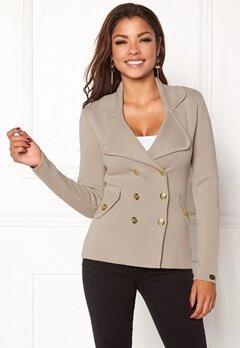 Chiara Forthi Chiara Heavy Knit Blazer Grey-beige Bubbleroom.fi