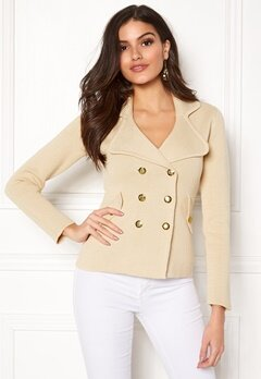 Chiara Forthi Chiara Heavy Knit Blazer Light beige Bubbleroom.fi