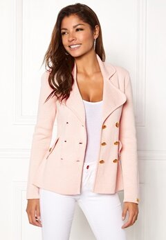 Chiara Forthi Chiara Heavy Knit Blazer Light pink Bubbleroom.fi