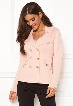 Chiara Forthi Chiara Heavy Knit Blazer Light pink Bubbleroom.fi