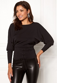Chiara Forthi Chimelle top Black Bubbleroom.fi