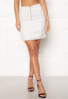 Chiara Forthi Cici bouclé skirt Winter white Bubbleroom.fi