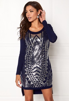 Chiara Forthi Clara Sequin Top/Dress Blue / Silver Bubbleroom.fi