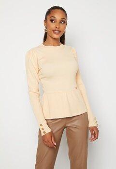 Chiara Forthi Claudina sweater Light beige bubbleroom.fi