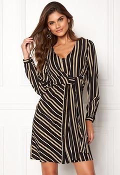 Chiara Forthi Connie shirt dress Black / Yellow / Striped Bubbleroom.fi