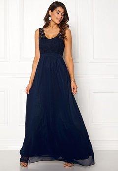 Chiara Forthi Daisy gown Dark blue Bubbleroom.fi