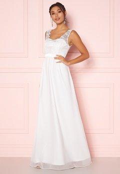 Chiara Forthi Daisy satin gown White Bubbleroom.fi