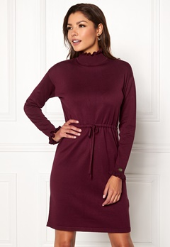 Chiara Forthi Daphne knitted dress Wine-red Bubbleroom.fi
