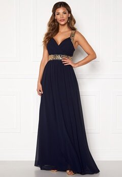 Chiara Forthi Diana Gown Dark blue / Gold Bubbleroom.fi