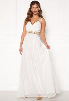 Chiara Forthi Diana Gown White / Gold Bubbleroom.fi