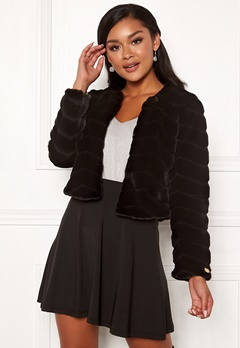 Chiara Forthi Diva party faux fur Black Bubbleroom.fi
