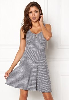Chiara Forthi Donata Skater Dress Grey melange Bubbleroom.fi