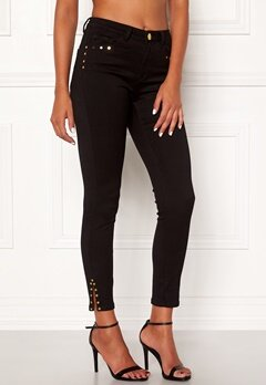 Chiara Forthi Donatella studded slit pants Black Bubbleroom.fi
