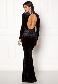 Chiara Forthi Editta Velvet Gown Black Bubbleroom.fi
