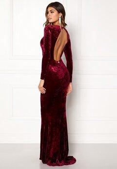 Chiara Forthi Editta Velvet Gown Dark red Bubbleroom.fi