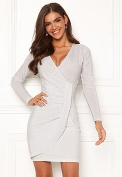 Chiara Forthi Elena sparkling wrap dress White / Silver Bubbleroom.fi