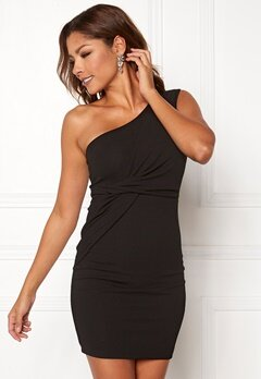 Chiara Forthi Elsa oneshoulder dress Black Bubbleroom.fi