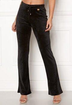 Chiara Forthi Elvira velour bootcut pants Black Bubbleroom.fi