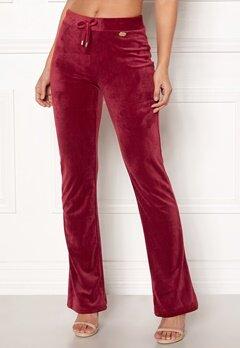 Chiara Forthi Elvira velour bootcut pants Wine-red Bubbleroom.fi